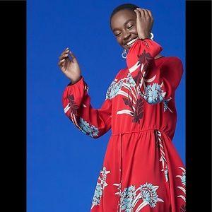 Diane Von Furstenberg Cinch Waist Silk Mini Dress